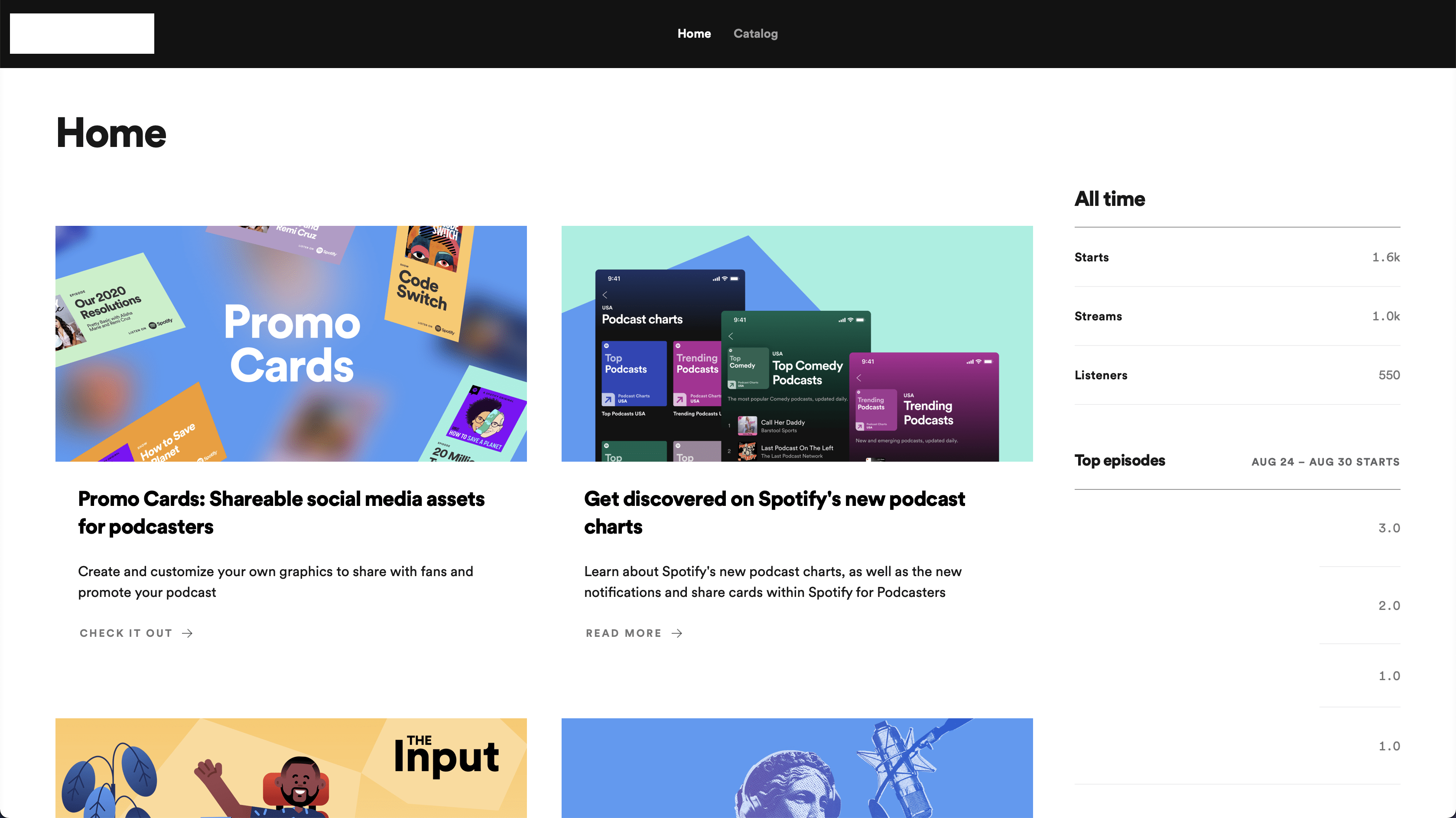 Home do Spotify for Podcasters